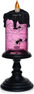 Christmas Spider Tornado LED Lighting Flameless Candle, Battery Operated Table Centerpiece for Home and Party