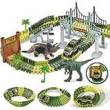 Kids' Play Car Race Tracks Dinosaur Race Track Car Toy Set 142 Pcs
