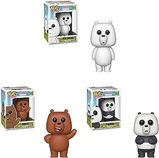 Funko Pop! Animation: We Bare Bears Set of 3 - Ice Bear, Grizz and Panda