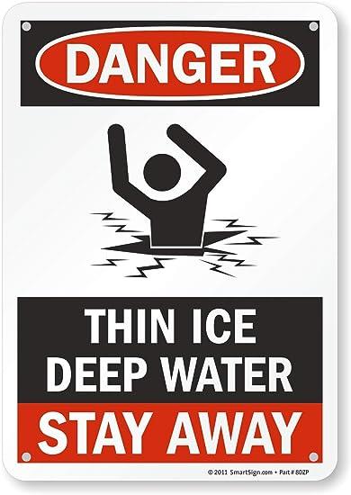 WARN0044 Stickers /& Signs Danger Deep water