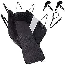 EXPAWLORER Dog Car Seat Cover Waterproof Seat Covers - Back Seat Cover for Pets Black, 100% Waterproof, Hammock Convertible