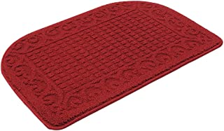 27X18 Inch Anti Fatigue Kitchen Rug Mats are Made of 100% Polypropylene Half Round Rug Cushion Specialized in Anti Slippery and Machine Washable (Burgundy 1 pc)