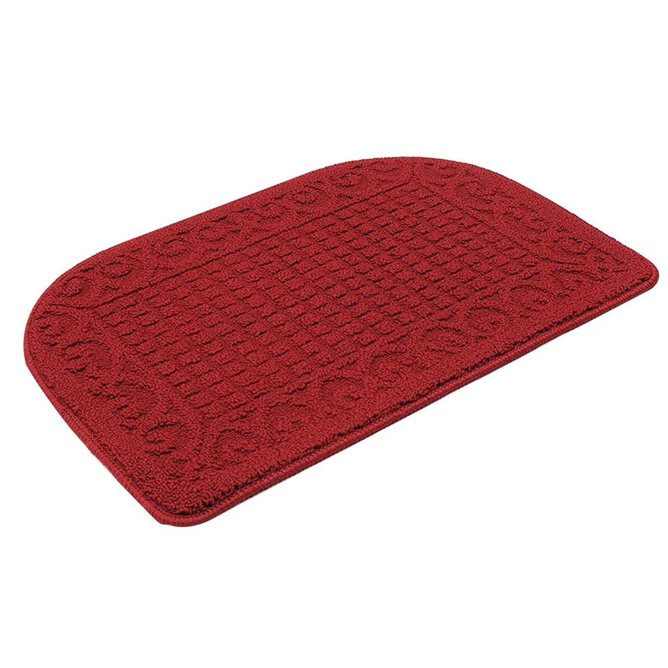 27X18 Inch Anti Fatigue Kitchen Rug Mats are Made of 100% Polypropylene Half Round Rug Cushion Specialized in Anti Slippery and Machine Washable,Red