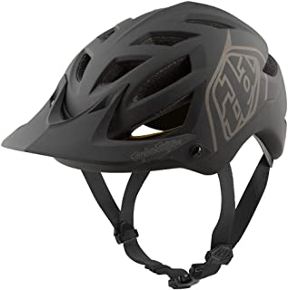 Troy Lee Designs Adult | Trail | Enduro | Half Shell A1 Classic Mountain Biking Helmet with MIPS (Medium/Large, Black)
