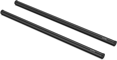 SMALLRIG Aluminum Alloy 15mm Rod Black - 40cm 16 Inches (2 pcs) - 1054