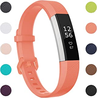 Maledan Replacement Bands Compatible for Fitbit Alta, Alta HR and Fitbit Ace, Newest Accessories Wristbands Sport Strap with Secure Metal Buckle for Fitbit Alta HR/Alta/Ace, Women Men