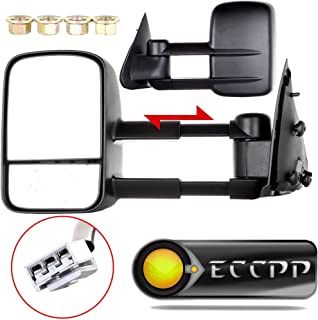 ECCPP Towing mirrors For 1997 1998 1999 Ford F150 F250 Standard & Extended Cab (Not for 4 Doors Crew Cab Models) Power Adjusted Pair Mirrors