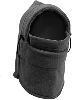 TRIXES Unisex Half Face Fleece Balaclava Hood – Grey - One Size