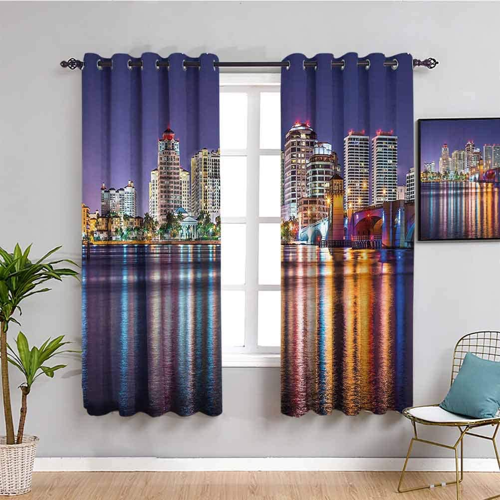 New York Mall American Kids Curtain The Townscape Nightime At the price of surprise Florida Skyline of