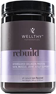 Wellthy Rebuild - Hydrolyzed Collagen Protein - All Natural - Collagen Peptides - Non Flavored