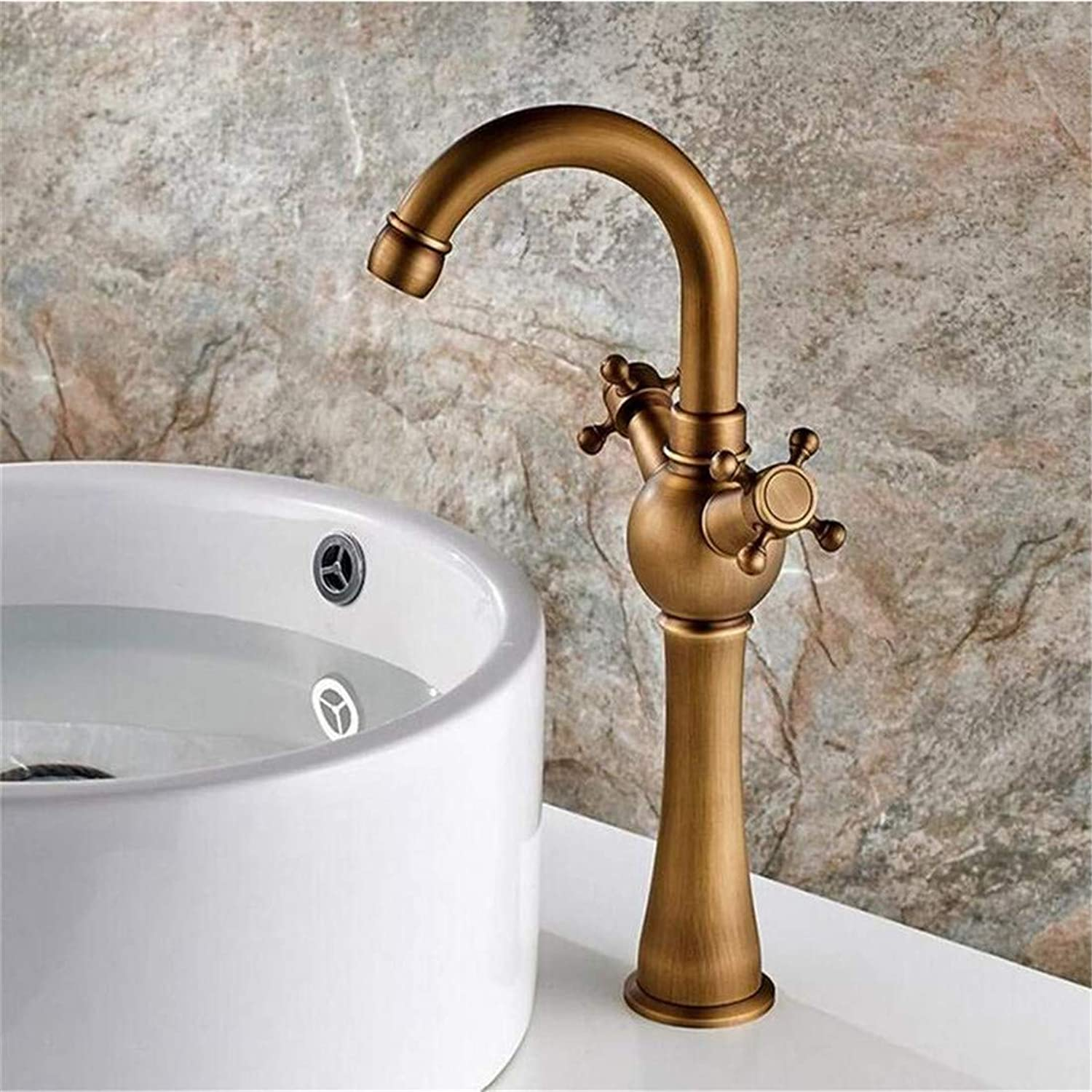 Retro Hot and Cold Water Brass Kitchen Copper Antique Bathroom Taps Point Deck Mounted Vintage Sink Basin Mixer