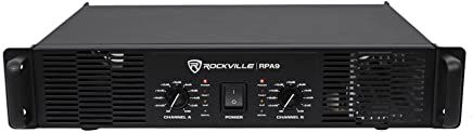 Rockville RPA9 3000 Watt Peak / 800w RMS 2 Channel Power Amplifier Pro/DJ Amp
