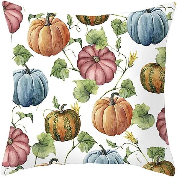 YESWOMAN Fall Halloween Pumpkin Pillow Case Waist Throw Cushion Cover Sofa Home Decor Living Room Decorative