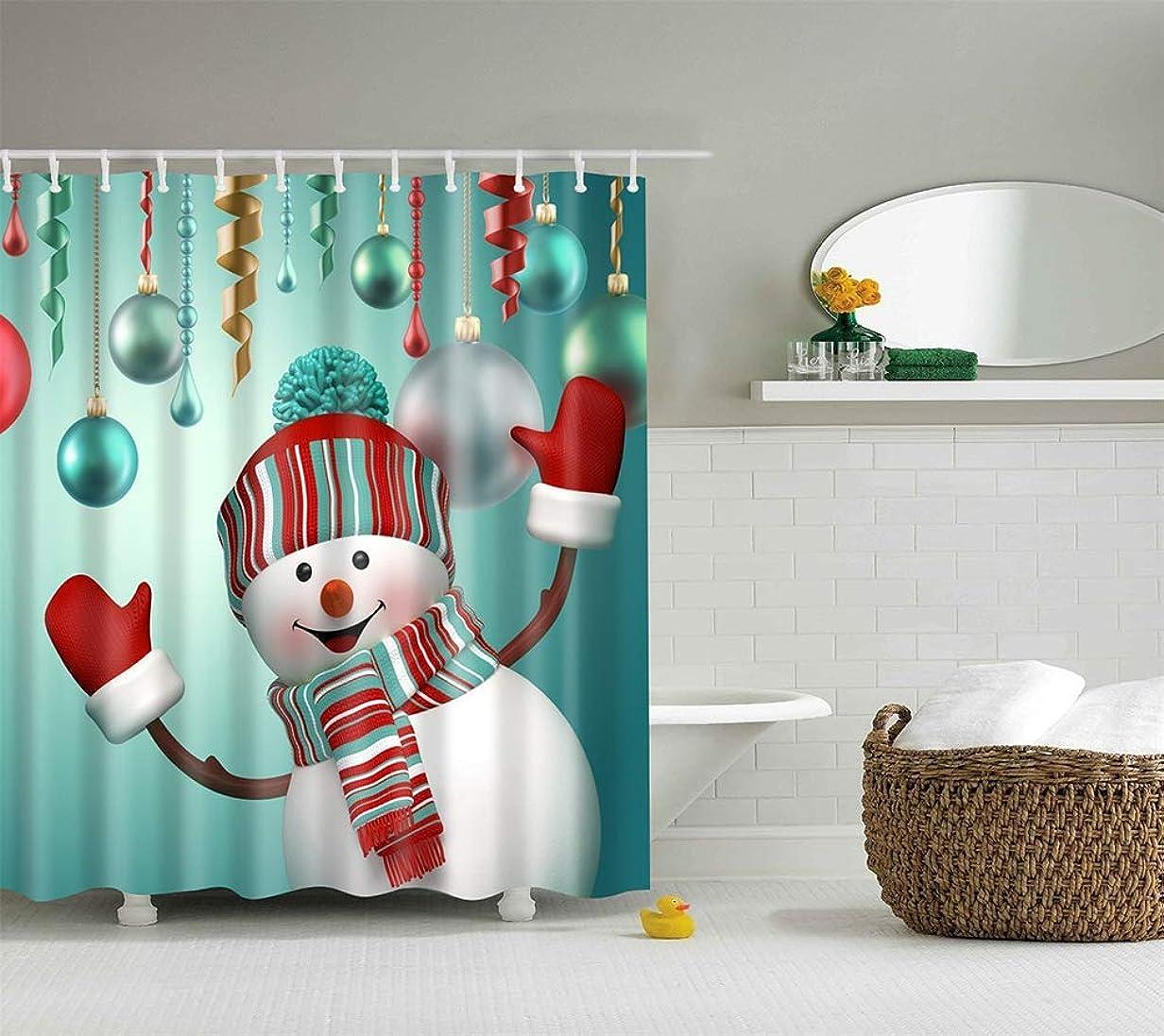 一貫性のないロッカー賠償シャワーカーテンバスルームカーテン 防水、ポリエステル製シャワーカーテン/クリスマス、防カビ性、環境にやさしい、静電気防止、無臭、プライバシーシャワーカーテン、TZ161126,180 * 180 cm 浴室のビーチ装飾家の装飾のため