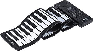 ammoon Portátil Silicona 61 Teclas Roll Up Electronic Piano Teclado MIDI con Altavoz Incorporado