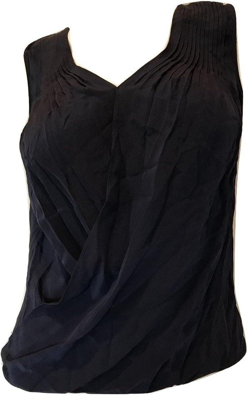 Bailey 44 Women's Fawcett Pintucked Silk Top Navy bluee Size XSmall