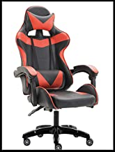 Yalla Office Gaming Chair - PC Computer Chair for Gaming, for Office, for Students -Ergonomic Lumbar Back Support Pain Relief (Black & Red)