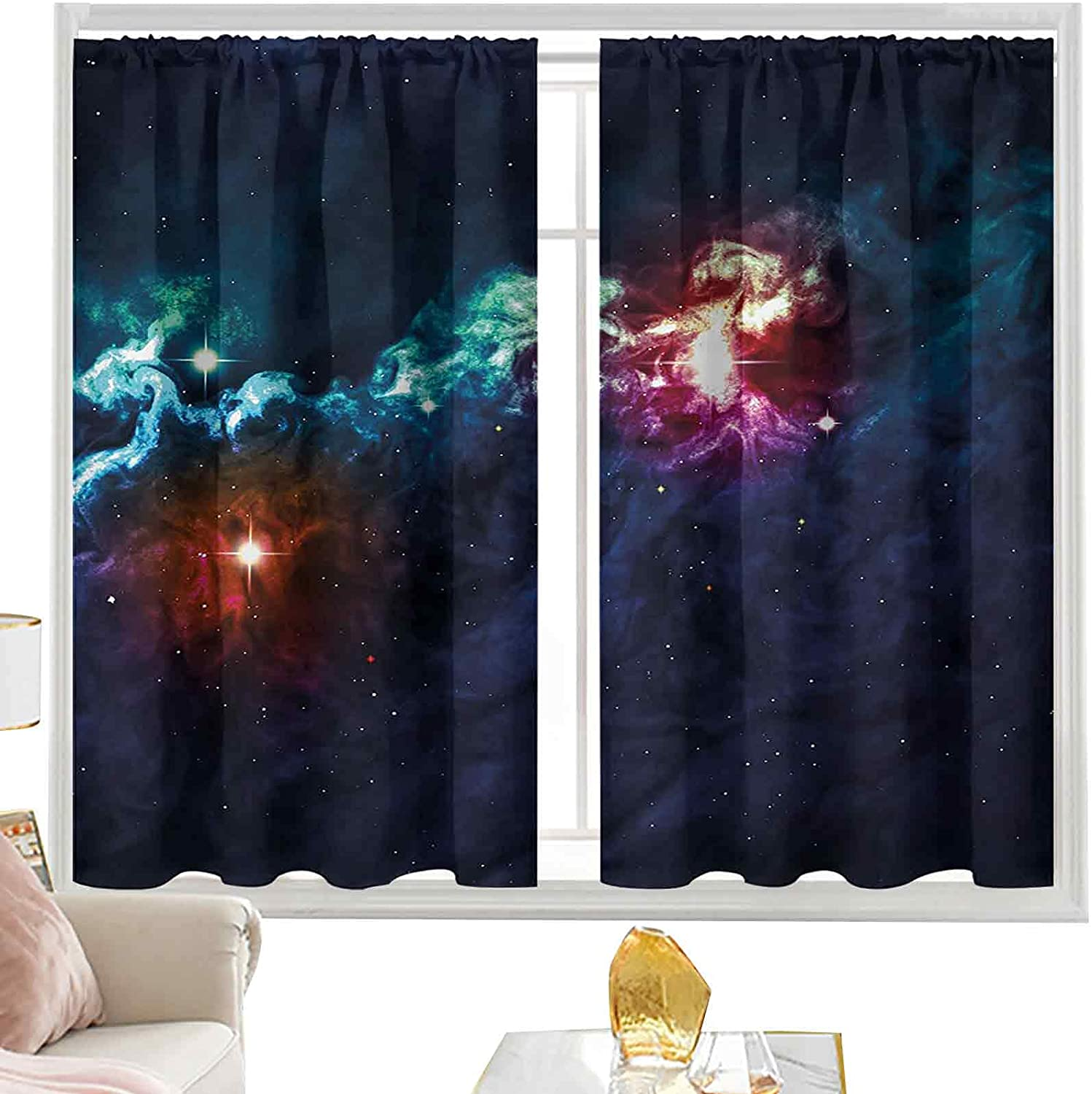 Light Ranking TOP17 Blocking Curtains Galactic Image Way Colorf on Direct store Milky with