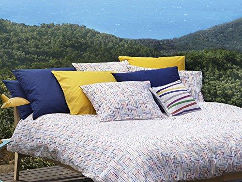 Jalla Nine Taie d'oreiller, Cotton, Multicolore, 65 X 65cm