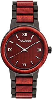 TruWood Architect Wooden Watch with Rosewood and Matte Black Stainless Steel Band