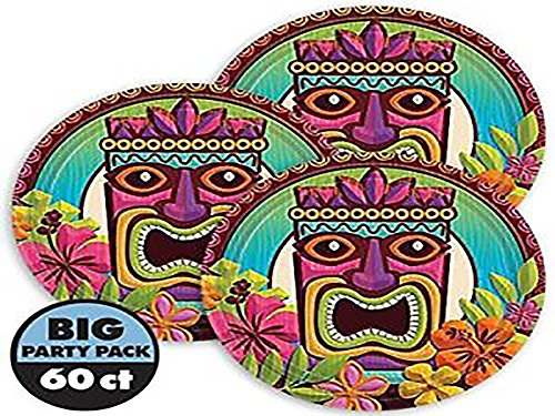 amscan Tropical Tiki Party Dessert Plates | 6 Ct.