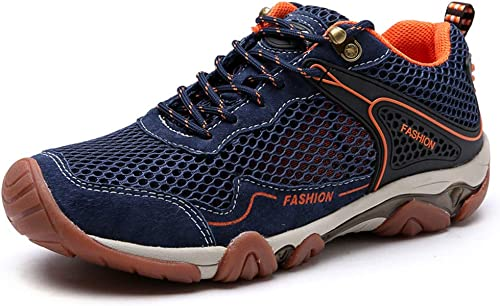 WQING Wasserdichte Schuhe für Herren Sohle Wanderschuhe Wanderschuhe Schnell trocknende Regenschuhe Laufsport
