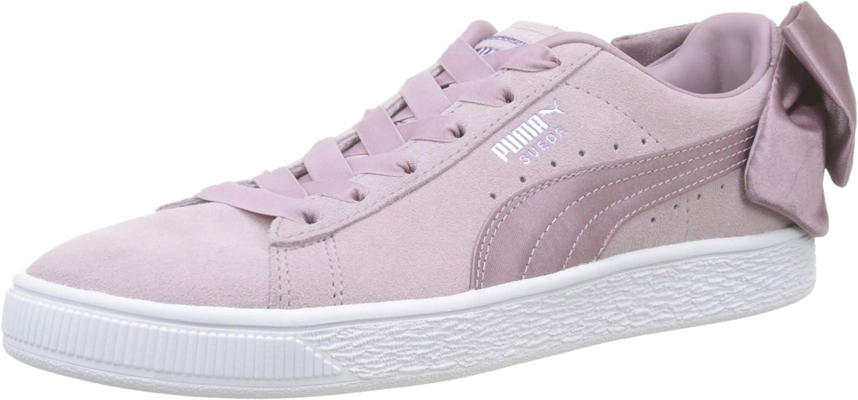 Puma Women's's Suede Bow WN's Low-Top Sneakers Purple (Elderberry White), 4 UK