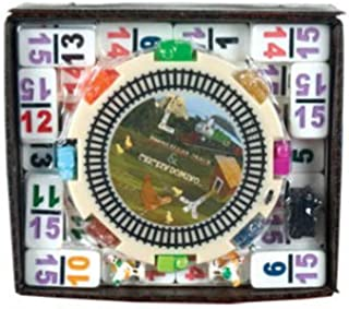CHH Double 15 Numeral Mexican Train Dominoes with 2-in-1 Hub
