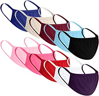 10PCS Bandana Face Reusable Washable Dust Protection Cloth Breathable Re Useable Fashion Rewashable Fabric Elastic String Cycling Motorcycle Balaclava Scarf