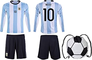 AFC Messi #10 Argentina Home Youth Kit Short/Long Sleeve Drawstring Bag