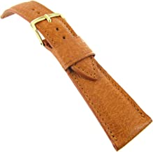 22mm T&C Genuine Pigskin Honey Tan Tapered Stitched Mens Watch Band 553 Short