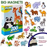 MAGDUM Zoo Tiermagnete für Kinder Happy- echte GROßE Kühlschrank Magnete für Kleinkinder-...