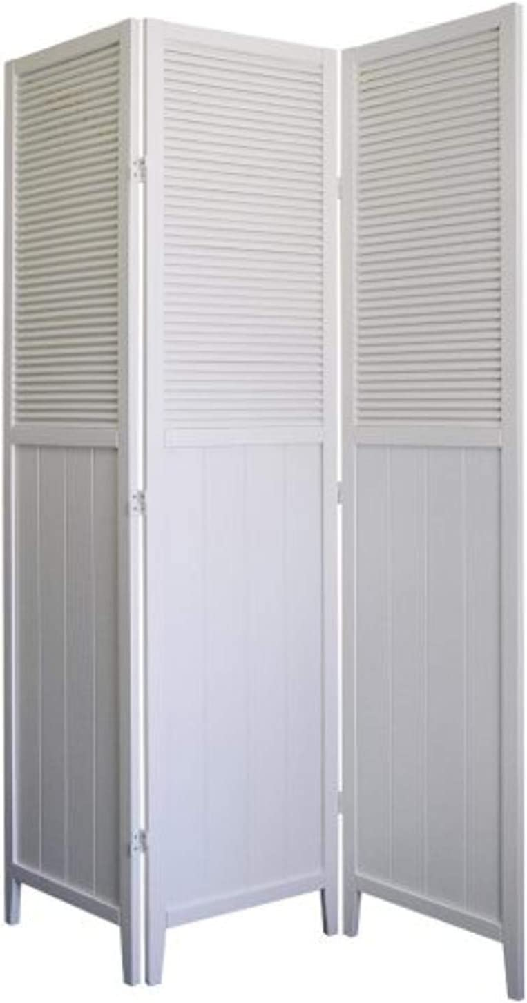 ORE International 3 Panel Selling and selling Solid Room White - Ranking TOP16 Divider