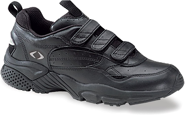 Apex Mens Men's Strap Walker 3-Strap White Sneaker