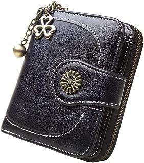 Women's RFID Blocking Leather Short Small Wallet Coin Card Holder Organizer