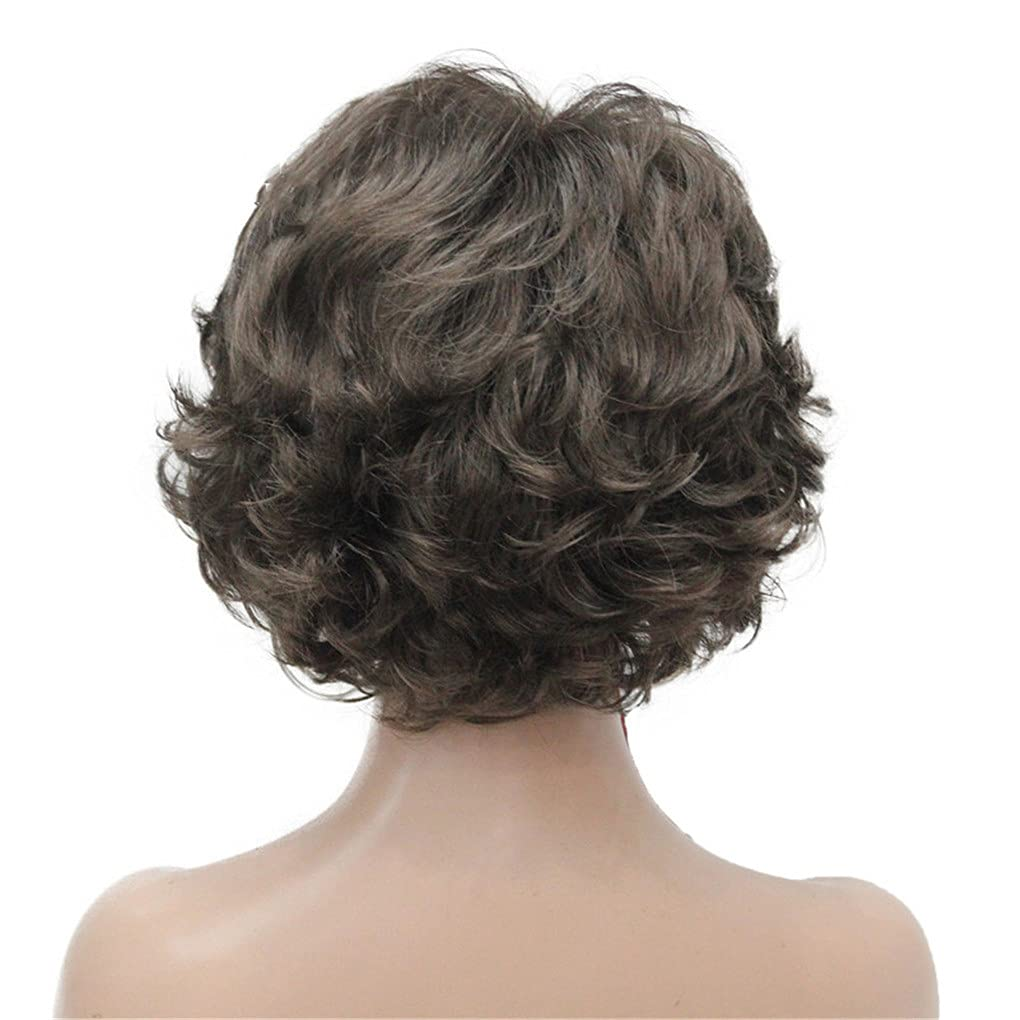 Short Wig Soft Super beauty product restock quality top! Curls Brown Highlights Cheap mail order sales 8 Wigs Medi Synthetic Full