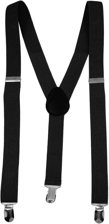 Men's Suspenders - Adjustable Y Back - 3 Clips Strong Hold 1