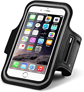 Cell Phone Armband Case for iPhone 11 Pro Max, Huawei P30 Lite Mate 20, Xiaomi Mi 9 Pro, Samsung Galaxy A10 A20 Outdoor Sports Adjustable Arm Band Strap Key Holder for Running, Walking, Hiking