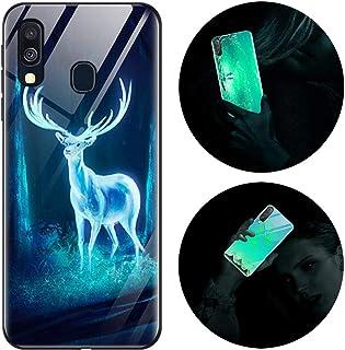 Funda Samsung Galaxy A40, Luminosa Funda para Samsung Galaxy A40, Carcasa con Dibujos Diseño Silicona TPU y PC Trasera Cri...
