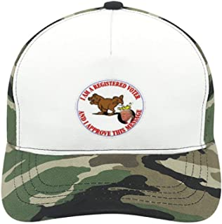 WYL S Anti Trump I Approve This Message Suitable for Men and Women, Army Green Baseball Cap, Adjustable Cap Circumference.