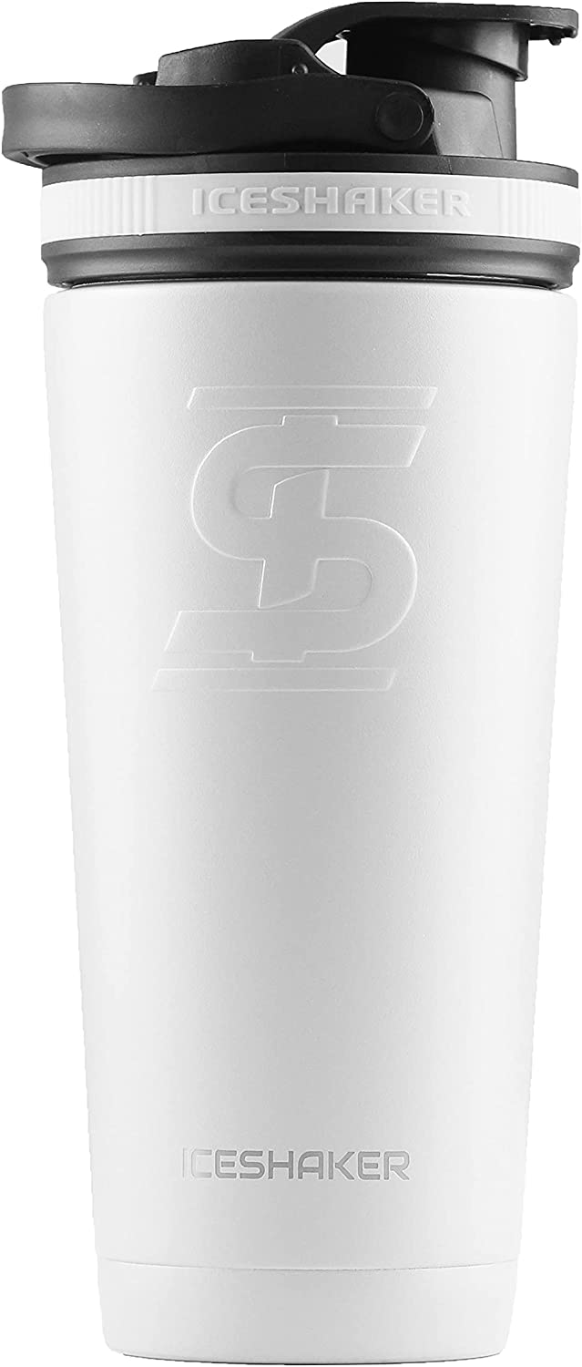 Ice Shaker Stainless Steel Insulated Bottle Mixing Water Protein half El Paso Mall
