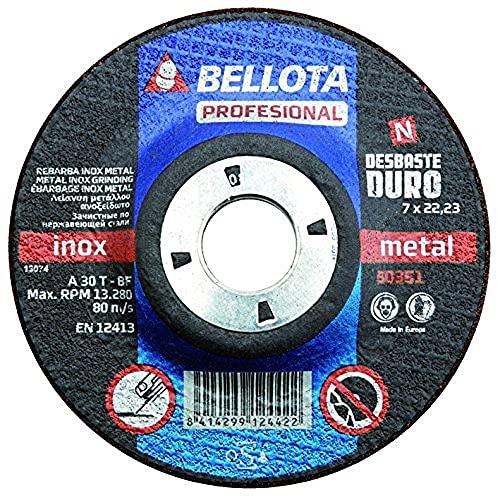 Bellota Profesional - Disco abrasivo, desbaste inox-metal, duro (125 mm)