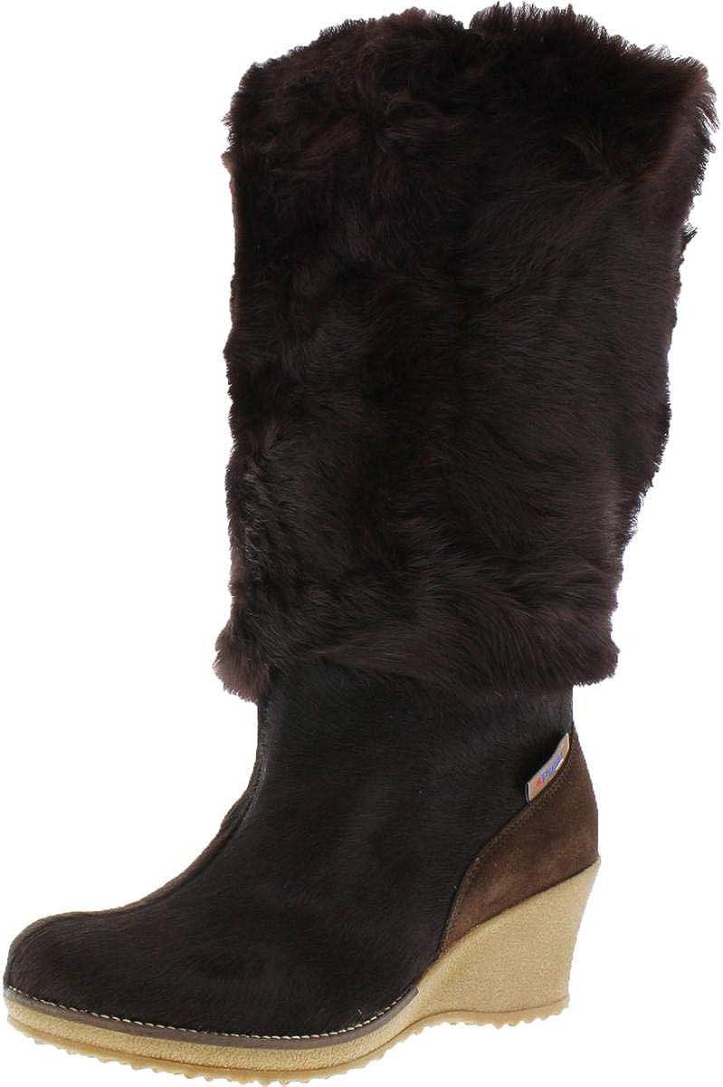 PAJAR Women's Angelica-Lux Fur Winter Boots Brown Size 41 EU/10 US