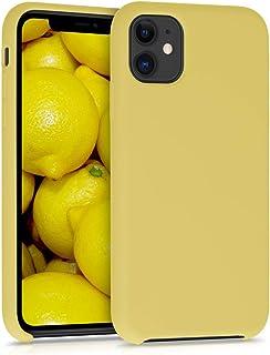 kwmobile Funda Compatible con Apple iPhone 11 - Carcasa de TPU para móvil - Cover Trasero en Amarillo Mate