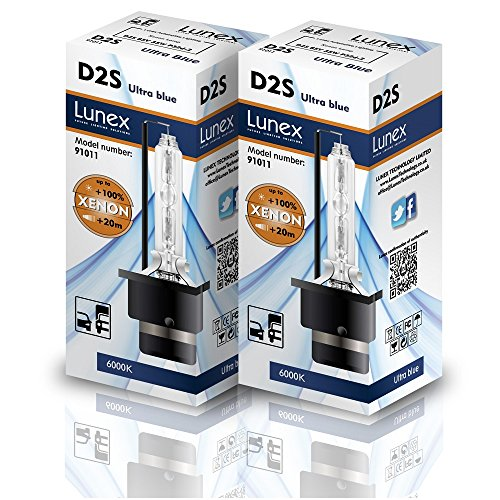 Lunex D2S Lámpara para faros Xenon Replacement Bulb (6000K)