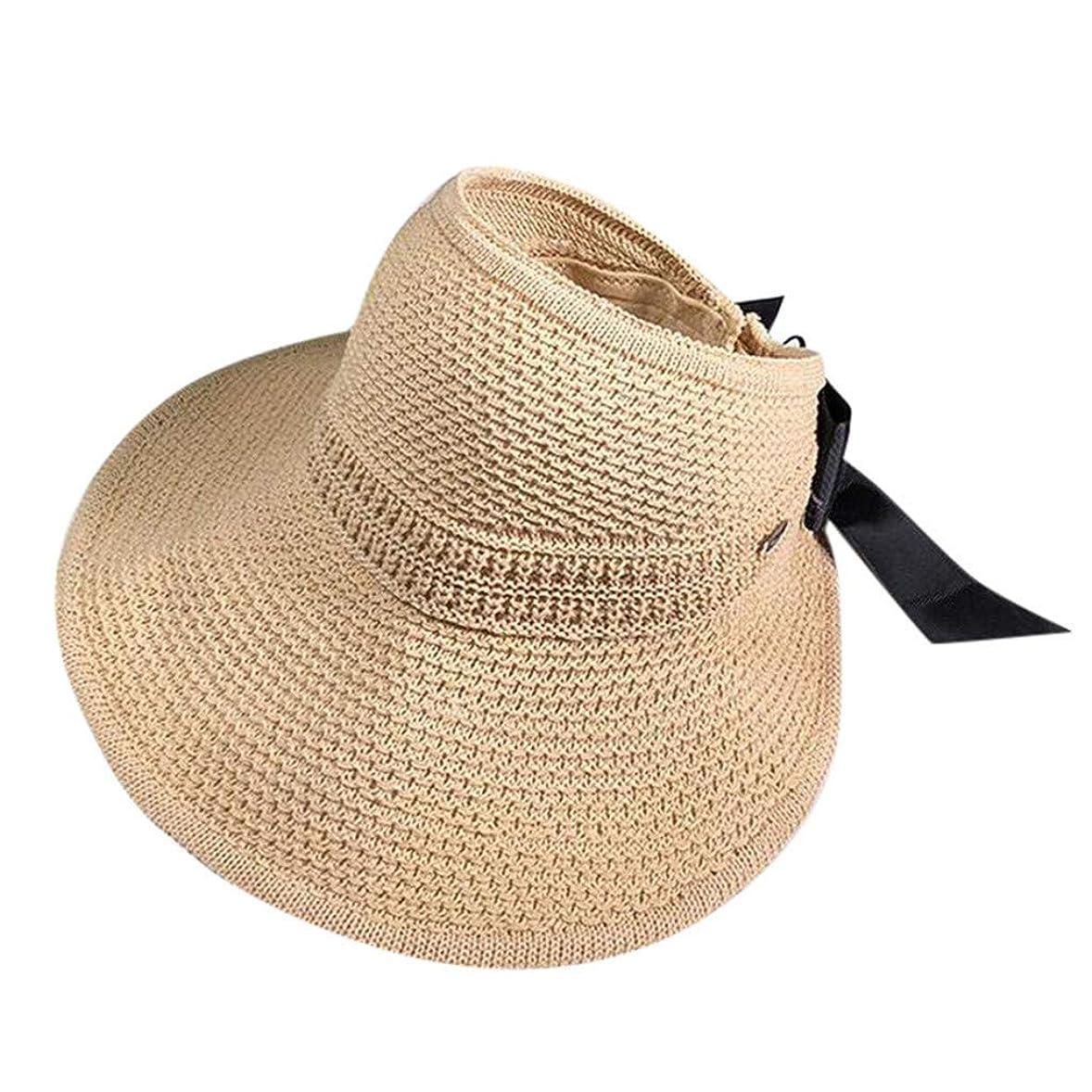 非常にロデオ存在サンバイザー レディース 麦わら帽子 キャップ レディース 漁師の帽子 帽子 キャップ ハット つば広 ハット 日除け おしゃれ 可愛い 日よけ 女優帽 小顔 UV対策 レディース 帽子 軽薄 カジュアル ビーチ ROSE ROMAN
