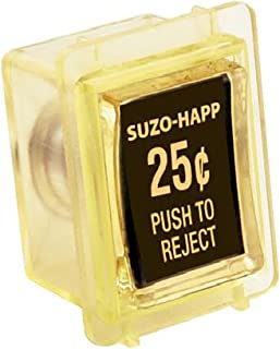 Suzo Happ Coin Door Reject Button Assembly -Yellow