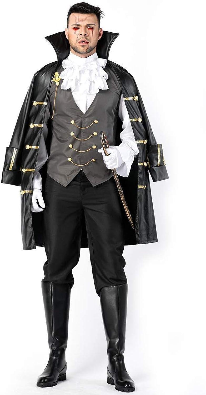 Fdhd Halloween Männer Piraten Cosplay Kostüm Mantel Mit Mantel Set Erwachsenenspiel Kostüm Bühnen Kleid B07JB341Z8  Moderne Technologie    Hohe Qualität