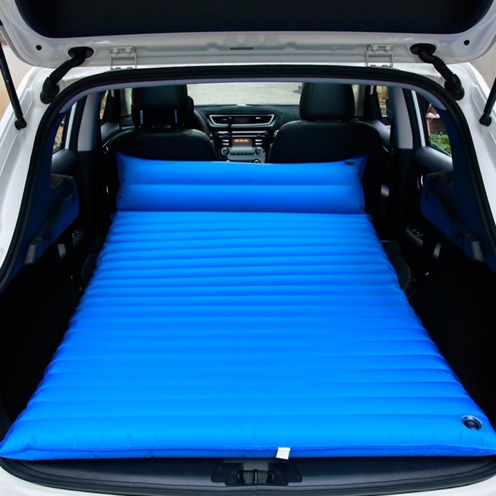 R/ücksitzmatratze Luftmatratze Tragbares Auto Luftbett Auto Camping Boden Reisematratze mit Kissen Elektrische Luftpumpe Reparaturset Aufbewahrungstasche 136x85cm Auto aufblasbares Bett