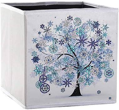 sofulaile Folding Storage Box DIY Diamond Painting Kits Foldable Fabric Storage Basket Organizer for Toys, Clothes, Bedroom,